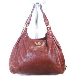 ❤Coach Brown Leather Shoulder Handbag